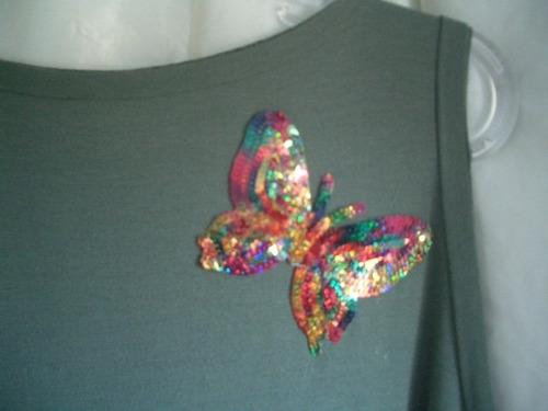 camisetão borboleta nas costas