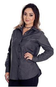 443f12a4dc Camisao Feminino Longo - Camisas no Mercado Livre Brasil