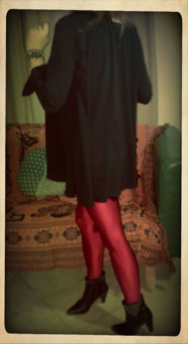 camisola de crepe negra, camisa vestir
