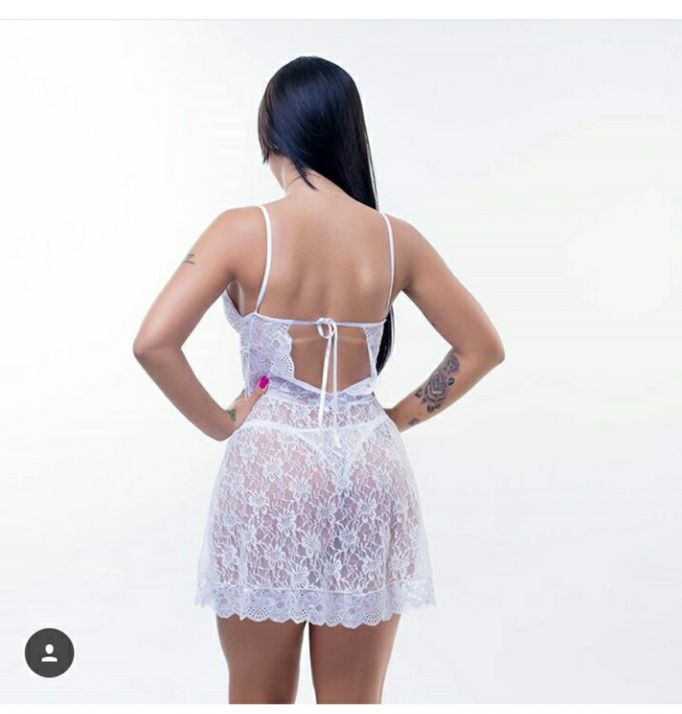 ae703c6c5 camisola em renda - branca para noivas sexys e lindas. Carregando zoom.