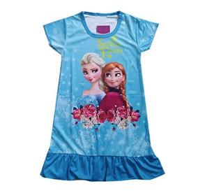 0ba2adcf933eb1 Camisola Estampa Frozen Anna E Elza Azul