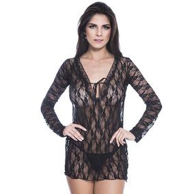 8e6002893 Camisola Longa Renda Branca - Moda Íntima e Lingerie no Mercado Livre Brasil
