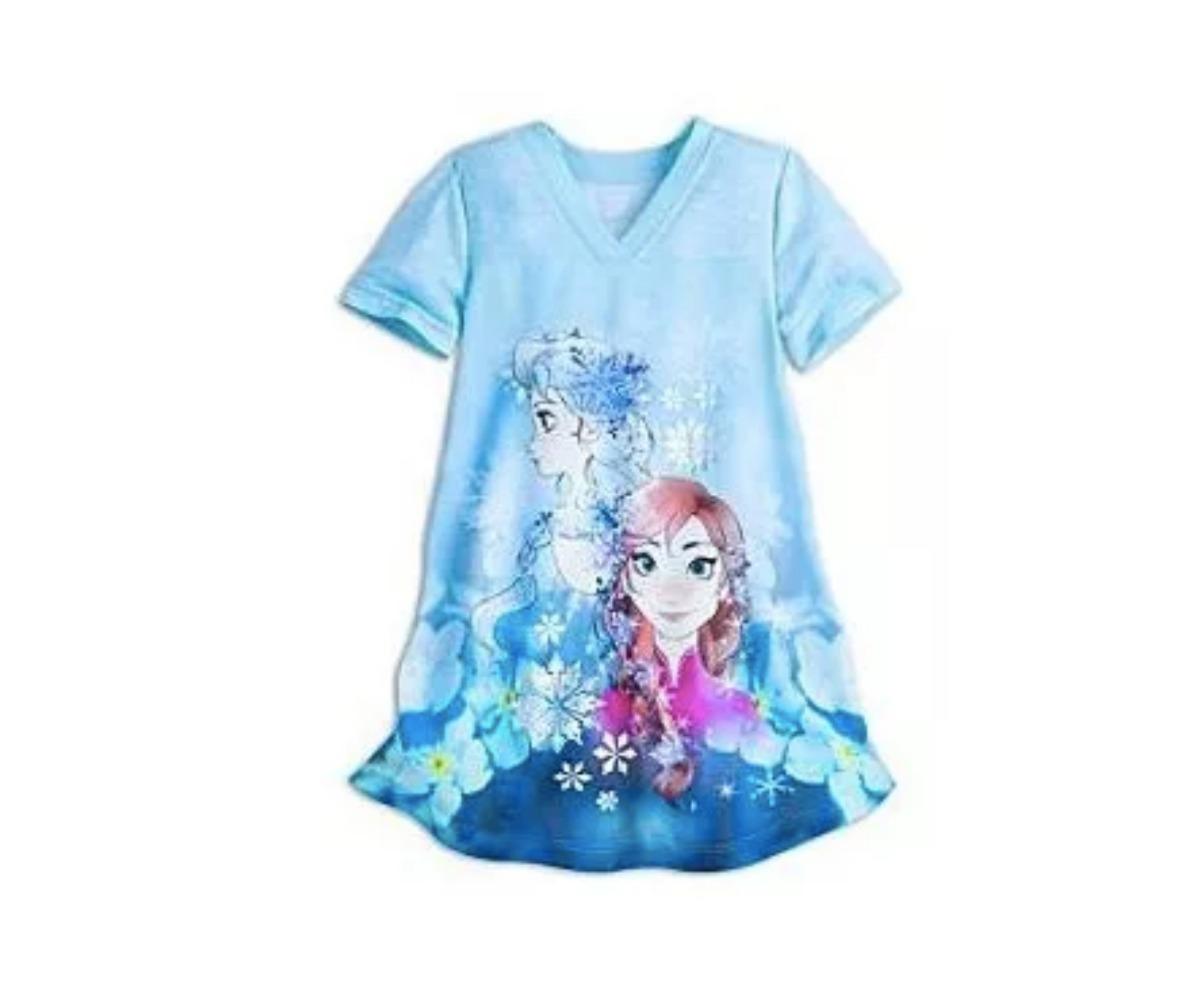 cc8b72fad40de7 Camisola Frozen Elsa Original Disney Store 4 Anos Pijama