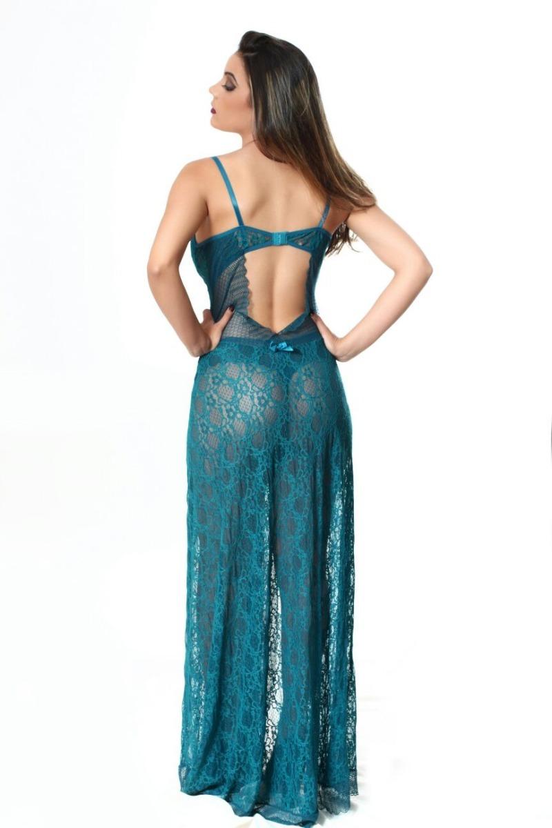 5885a1025 camisola longa sensual em renda - lingerie feminina. Carregando zoom.