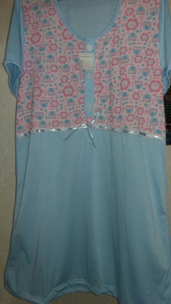 b224f48a9 camisola malha com manga pijama senhora. Carregando zoom.