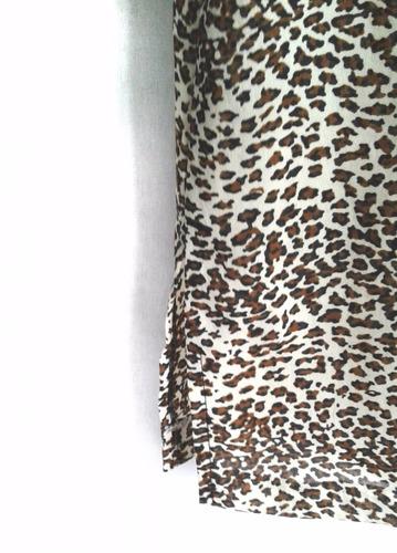 camisola para mujer talle xl en gasa animal print manga cort