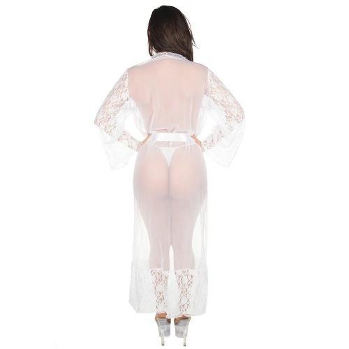 db0ee5c27 Camisola Robe Sensual Longo Pimenta Sexy Branco - 4373 - R  119