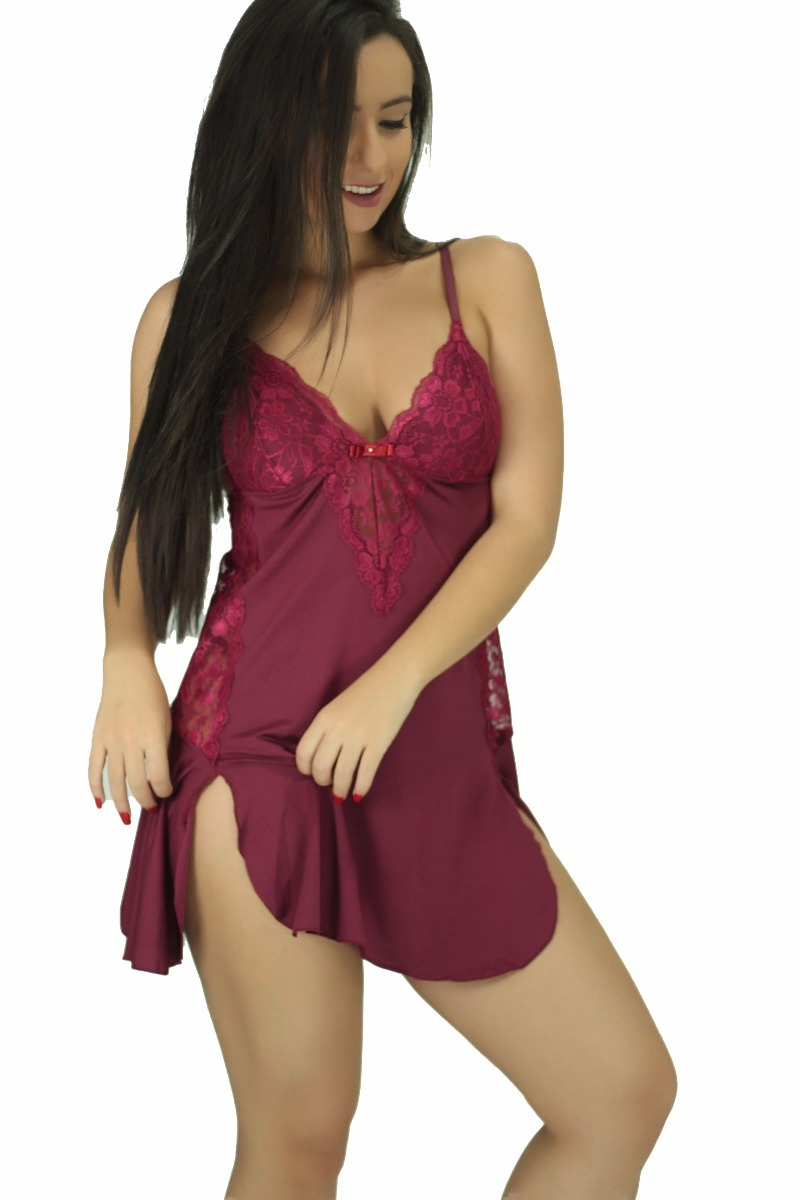 fa4798a18 camisola sensuais feminina sexy de renda - camisola milene. Carregando zoom.