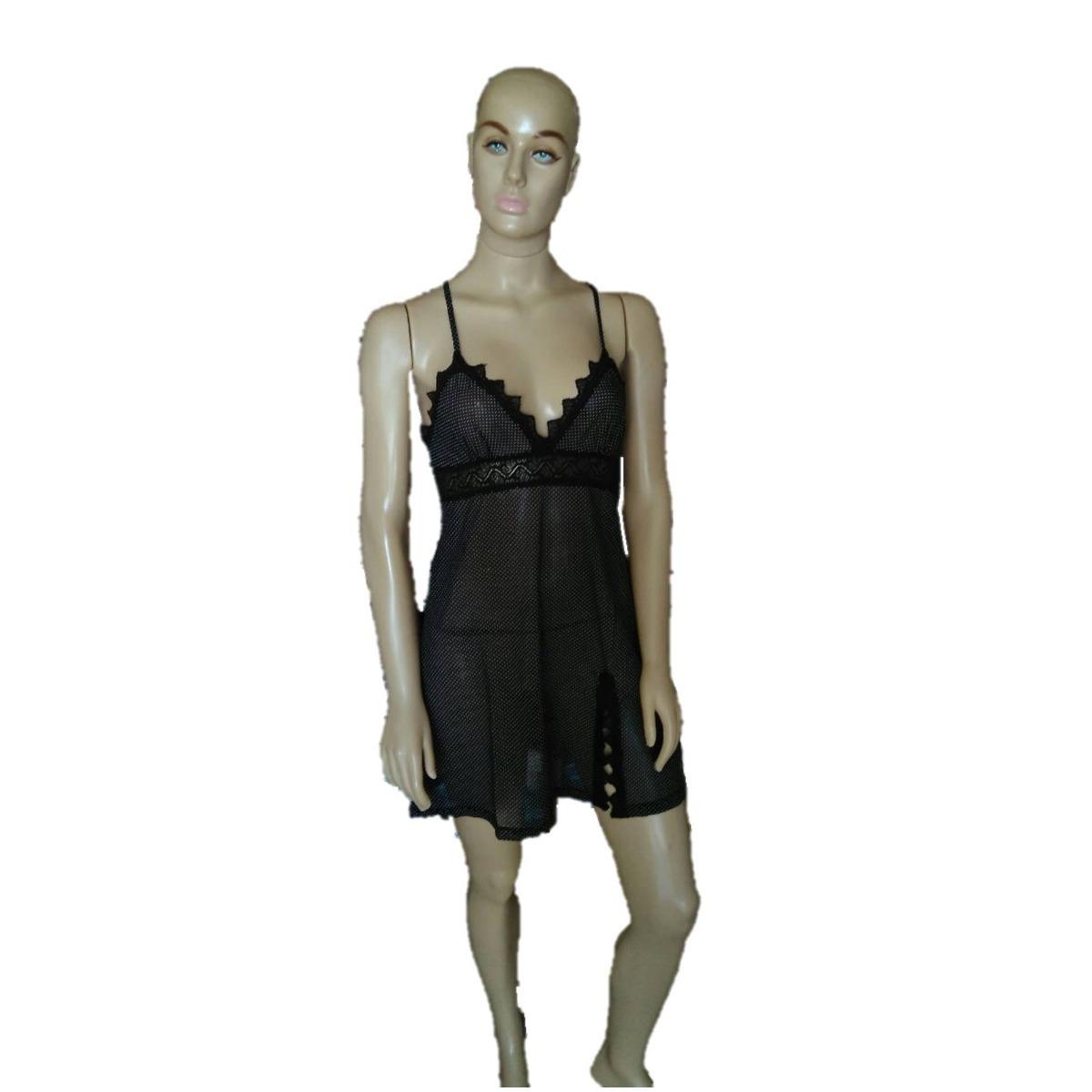 343d3fe75 camisola sensual curta transparente renda tule lingerie. Carregando zoom.