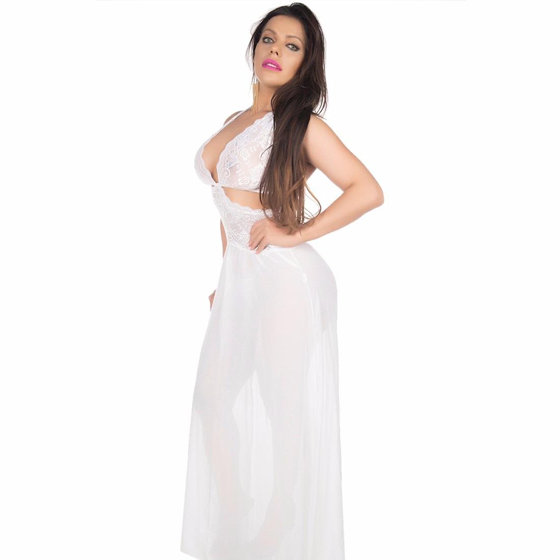 ccb99ee31 camisola sensual renda longa pimenta sexy branca - 5163. Carregando zoom.