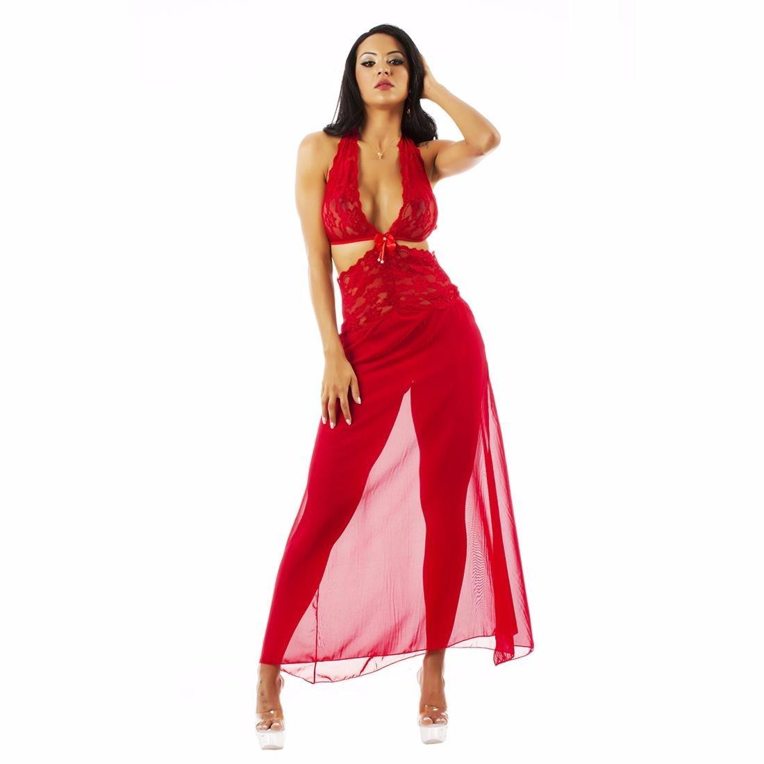 e53f78087 camisola sensual renda longa pimenta sexy vermelha - 5264. Carregando zoom.