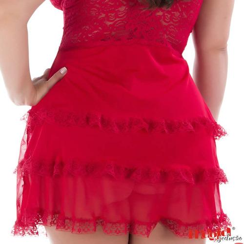 camisola sexy plus size azul ou vermelha [ frete gratis ]