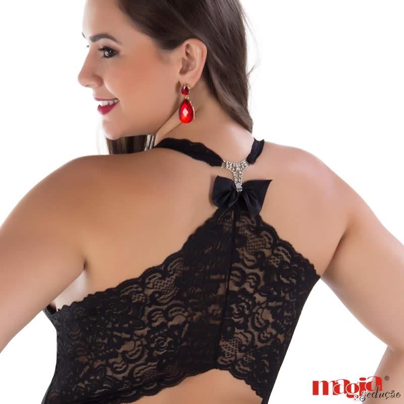 43e133079 camisola sexy plus size com bojo - lingerie plussize grande. Carregando zoom .