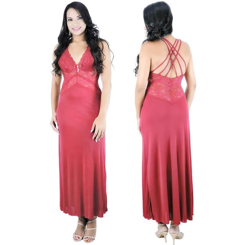 0fc5081b1 camisolas longas sensuais - camisola vermelha de luxo. Carregando zoom.