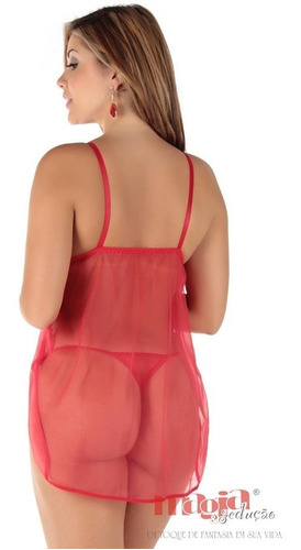 camisolas sensuais babi vermelha bojo aberta | sexy