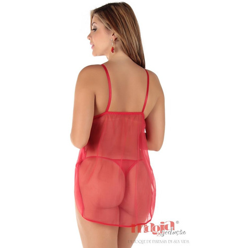 camisolas sexys babi vermelha bojo pijama   camisola sexy