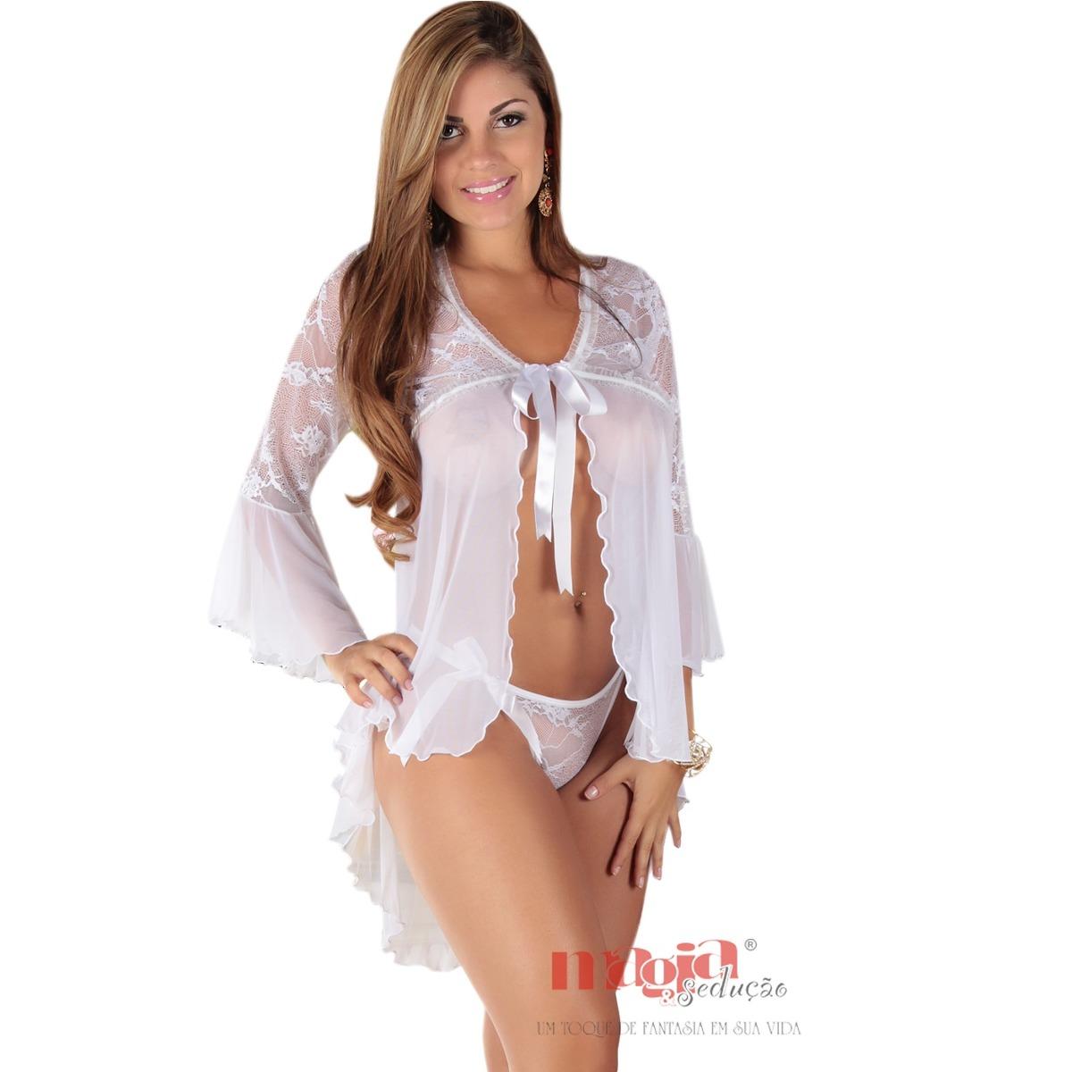 ac78a2209 Camisolas Sexys Maitê Branca + Calcinha