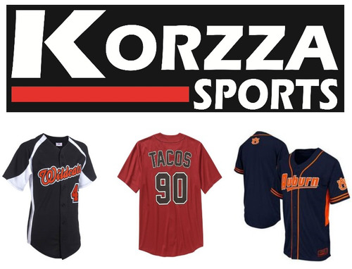 camisolas uniformes beisbol korzza sports
