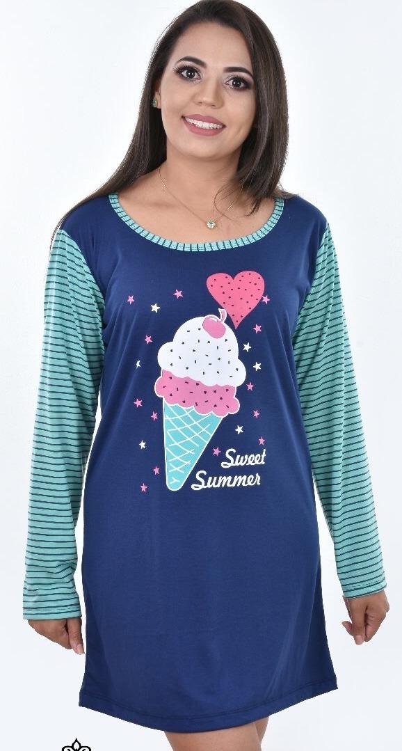 3ad3b4679 camisolão   pijama malha vários personagens   promoção. Carregando zoom.