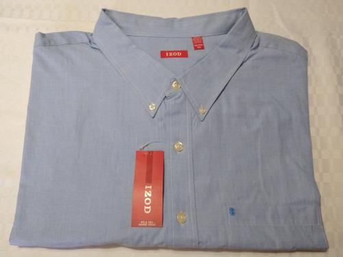 camiza izod talla 5xl big & tall manga larga
