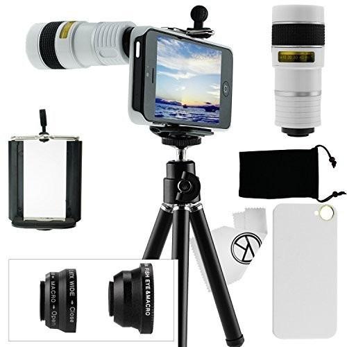 camkix 9 piezas kit de lente de la cámara para el iphone 5,