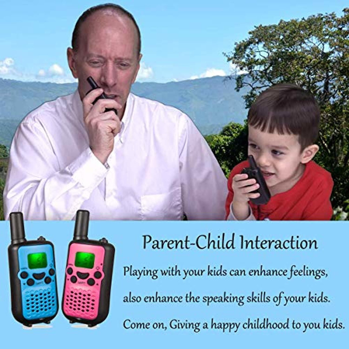Camouflage Rechargeable Walkie Talkies for Kids Gifts Toys 4-12 Year Old Boys Girls Camkiy 17062101