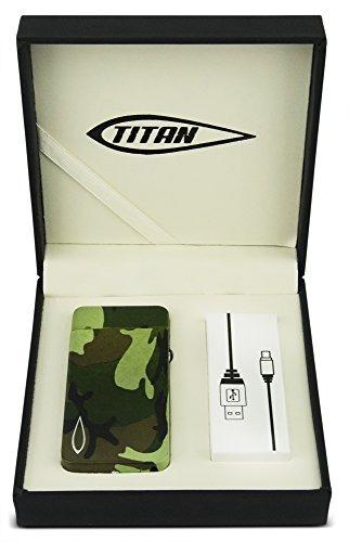 camo titan arco doble impermeable electrónico usb recarga...