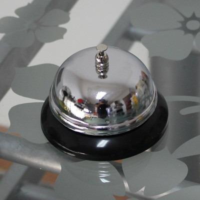 campainha de mesa balcão recepção 100% em metal