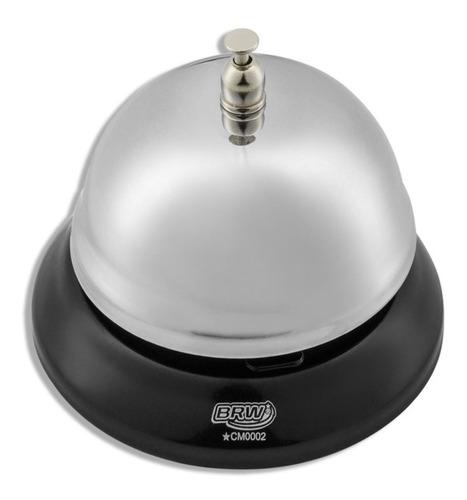 campainha de mesa cromado sineta recepção 85mm.
