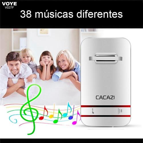 campainha residencial sem fio voye - 38 músicas