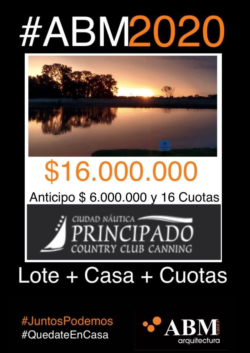 campaña 2020 casa + lote + cuotas en pesos  canning