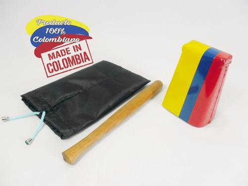 campana cencerro salsa mini colombia 13cm/funda envió gratis
