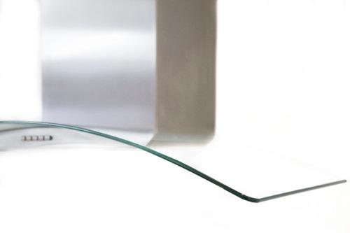 campana cocina 76 cm (30 ) t20094 cristal curvo acero inox