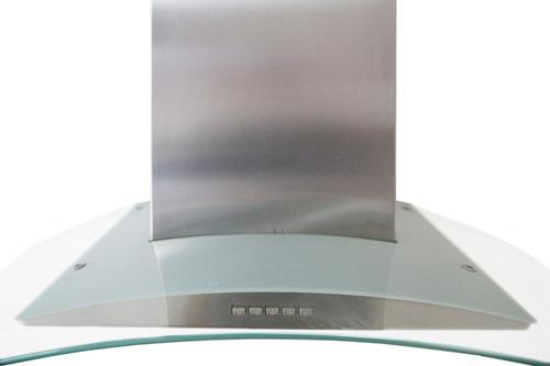 campana cocina 90 cm mod t20094 cristal curvo acero inox
