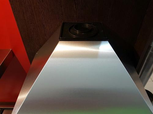 campana cocina acero inoxidable pirámide vacia 60 sin fondo