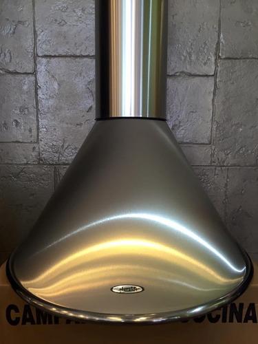 campana cocina circular 60acero motor turbo l/led potenciado