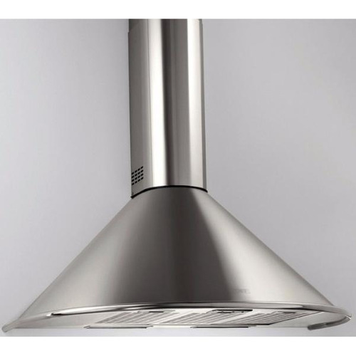 campana cocina circular 60cm esmaltado blanco 3 velocidades