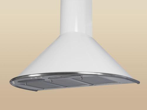 campana cocina circular de 60 color blanco cubre caño 60-110