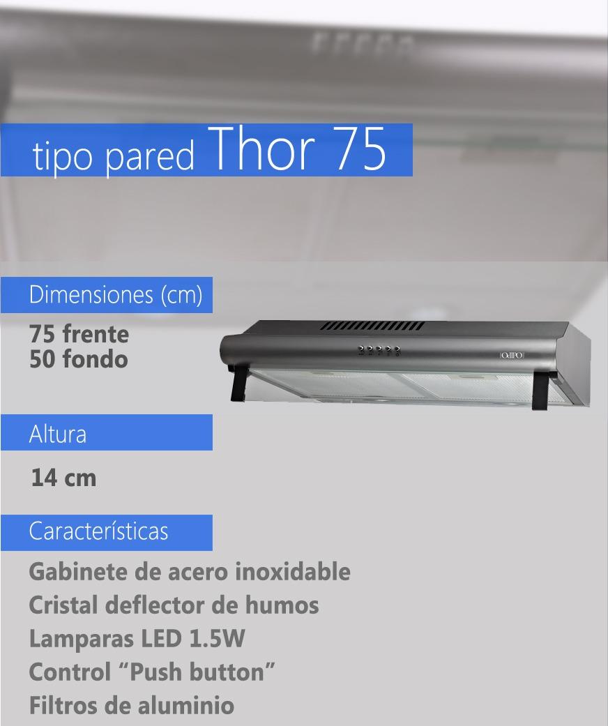 Campana Cocina Estandar 75 Cms Inoxidable 75 - $ 2,220.00 en Mercado ...