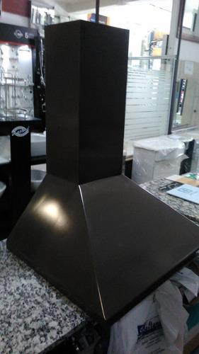 campana cocina everest marron tipo piramide motor y luz