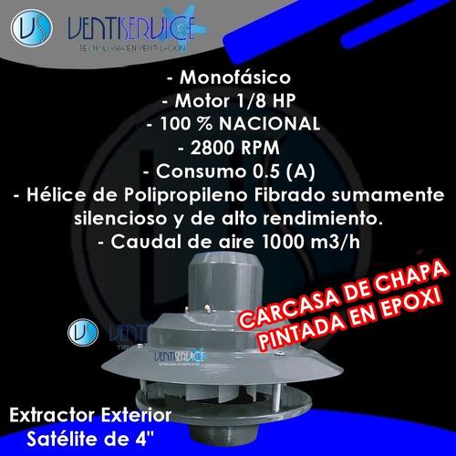 campana cocina extractora 70 cm acero motor exterior 1000m3h