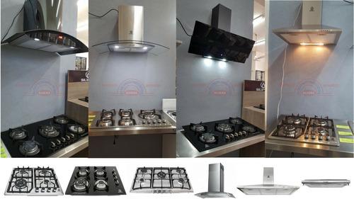 campana cocina extractora  moño de acero inoxidable 60 cm.