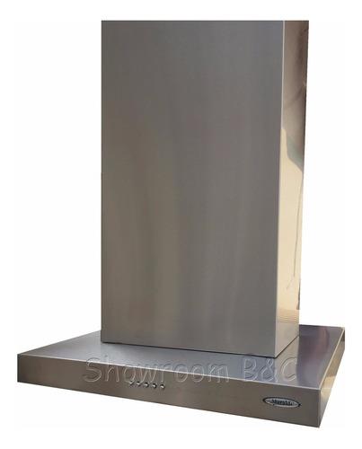 campana cocina isla slim 60x60 a.inox.motor turbo luz led