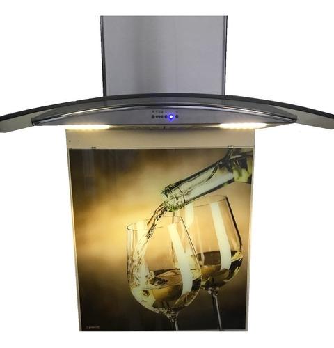campana cocina linea cristal curvo 60cm acero inoxidable
