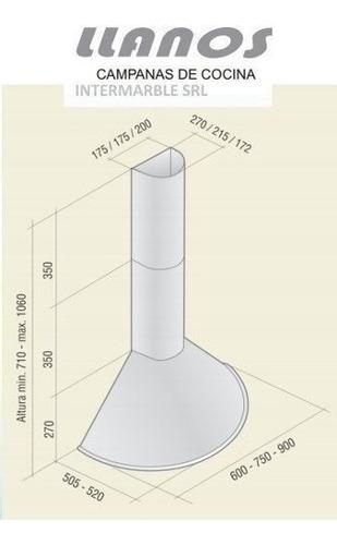 campana cocina llanos milenica 60cm acero circular