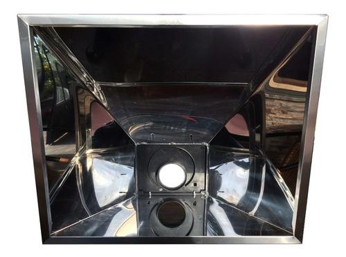 campana cocina maraldi 60 cm acero inoxidable  vacia + fondo + cubre caño 50 cm
