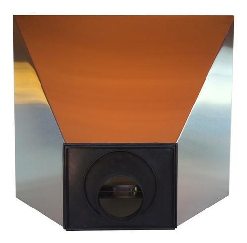 campana cocina maraldi 90 cm acero inoxidable  vacia + fondo + cubre caño 50 cm