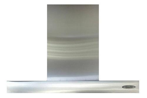 campana cocina maraldi slim 60 cm acero inoxidable sin motor + filtros + luz led + cubre caño 50 cm
