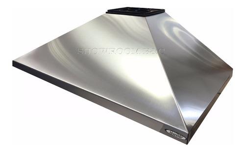 campana cocina piramide industrial acero vacia 90 sin motor