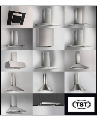 campana cocina tamel tst 60cm acero inoxidable cristal recto